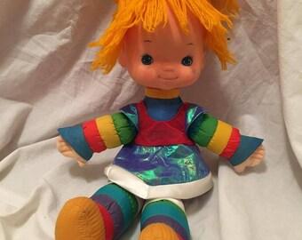 Vintage Rainbow Brite Plush, Starlite Brite, Rainbow Bright Doll, Plushies, Rainbow Brite Toy, Plush Rainbow Doll, Plush Toys, Magical Girl