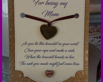 Mothers Day Wish Bracelet