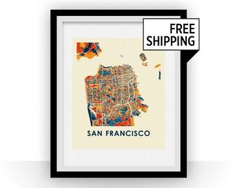 San Francisco Map Print - Full Color Map Poster