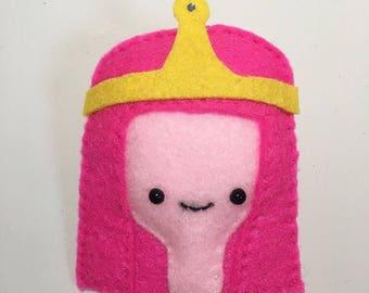 Princess Bubblegum Badge/Pin, Adventure time, BMO, Beemo, finn, finn the human, jake, jake the dog, lumpy princess