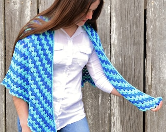 Rippling Blues Shawl