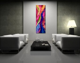 Smooth Operator - Original Large Colorful Abstract Painting - Mixed Media Art