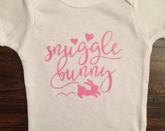 Snuggle Bunny Baby Bodysuit or Toddler Shirt