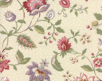 Jardin de Versailles Pearl designed by French General for Moda Fabrics, 100% Premium Cotton by the Yard