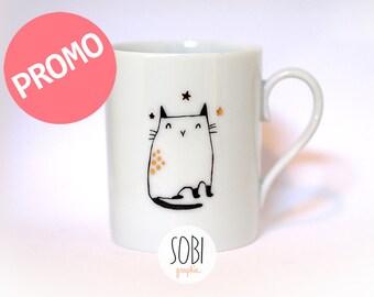 Mug chat étoiles