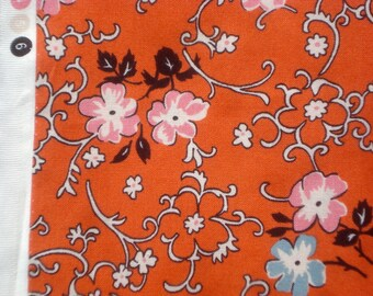 Richmond flowers vines orange DS Quilts Denyse Schmidt fabric  FQ or two