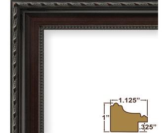 Craig Frames, 8x10 Inch Dark Walnut Picture Frame, Annesbury (64050810)