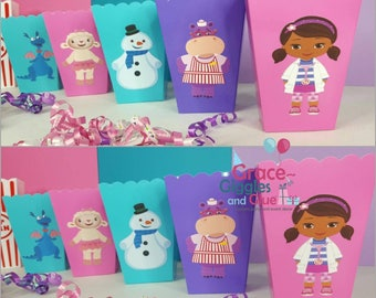 10 Doc Girl Inspired Snack/Favor Boxes
