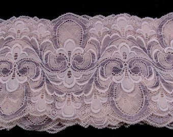 NICELY FESTOONED EMBROIDERY SPANDEX LACE