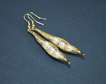 Paula Pea Pod Earrings Gold