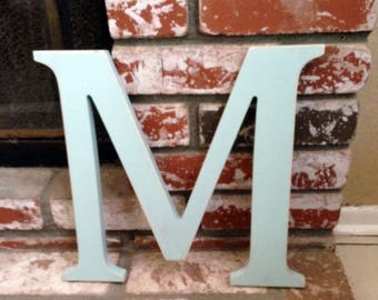 """Wooden Letter M Distressed 12"""""""