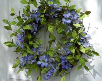 Wreaths , Spring Wreath , Door Wreaths , Summer Wreath , Front Door Wreath , Wreath For The Door , Country French Wreath  Wreath For Spring