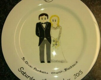 Wedding plate, personalised gift for the Bride & Groom