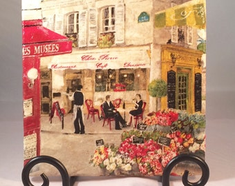 Paris Street Scene Trivet ( hot pad)