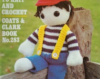 1980 Toys to Knit and Crochet Coats & Clark Book