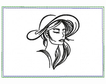 Modern Ladies 03A Small Money Purse - In The Hoop Machine Embroidery Design