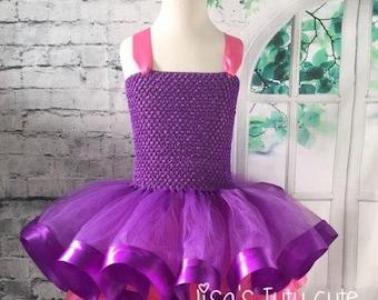 Pink and purple tutu, Pink and purple dress, pink tutu dress, purple tutu dress, pink dress, purple dress, purple pageant dress,