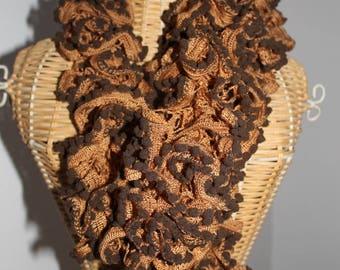 scarf beige/Brown tassels