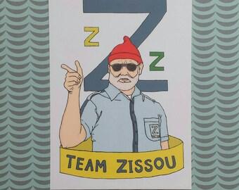A6 Steve Zissou postcard print