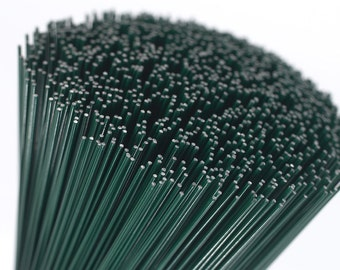 Cut lengths 20 gauge 090mm green floristry coated medium cut lengths 22 gauge 071mm green floristry coated thin florist stub wire floral keyboard keysfo Choice Image