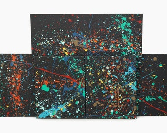 Schalz Abstract Acrylic Paintings Action Painting on Canvas Abstract Expressionist Abstraction Art