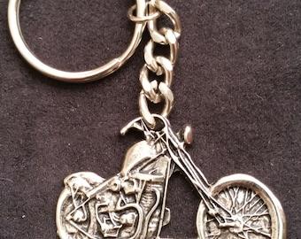 Bike Week 1989 Shovelhead Chopper key ring chain - Vintage - FREE SHIPPING