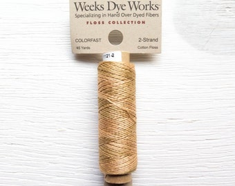 Embroidery Floss | Weeks Dye Works Hand Over-Dyed 2-Strand Embroidery Thread - STRAW