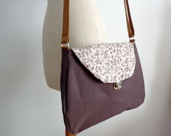 Floral printed Brown shoulder bag