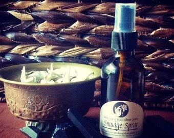 Smudge Spay - White Sage and Black Tibetan quartz 2fl oz