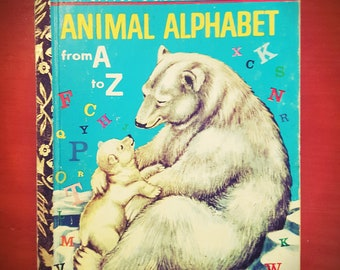 Animal Alphabet from A to Z a Little Golden Book 1973