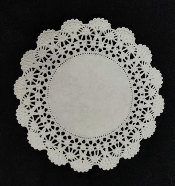 WHITE PAPER DOILIES | Cambridge 4\  5\  6\  8\  10\  12\  Round Lace Doily | Paper Charger Round Placemats Charger Plates Invitation Doily  sc 1 st  Etsy & WHITE PAPER DOILIES Cambridge 4 5 6