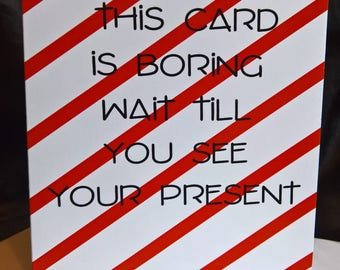 Fun Boring Greeting Card