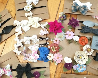 Baby and Girl headbands and clips