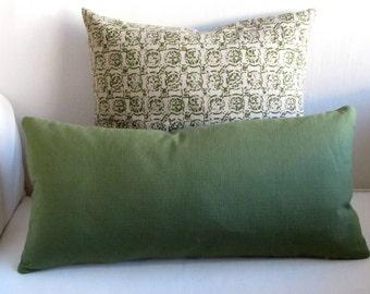 LEXINGTON pillow cover 18x18 20x20 22x22 24x24 26x26 13x26 12x20 olive