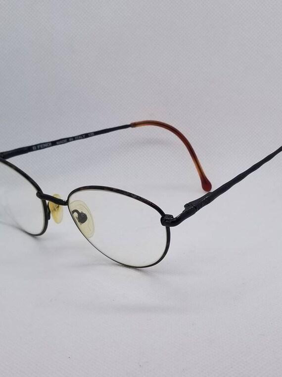 Vintage Fendi Eyeglasses Frames Mod F 35 Tortoise Shiny Black