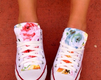 Floral Converse Chuck Taylor Shoes