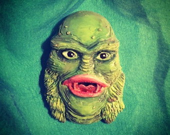 Handmade Creature from the Black Lagoon Brooch