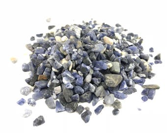 Tiny Sodalite Blue Gemstone Chip Embellishments, Crystal Chips, Gemstone Crystals, Healing Stones, Healing Crystals