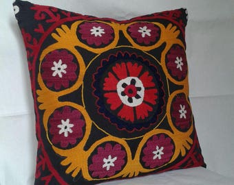Suzani pillow cases.Uzbek traditional pillow.50x50cm.