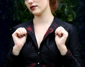 Precious black & red blouse