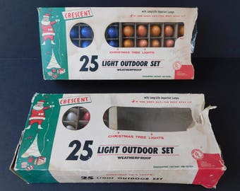 75 Assorted C9 1/4 Christmas Light Bulbs, Tested and Working, Vintage Christmas Lights, Crescent Light Bulbs, Some GE, Made in Japan
