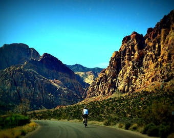 Valley of Fire Desert Bike Ride Travel Lomography Photo Cycling
