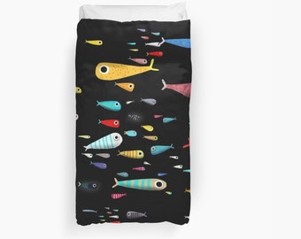 Duvet Cover -  Fishes Art Collection - Rupydetequila