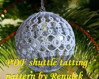 Bubble 3D–6'PDF Original Shuttle Tatting Pattern. Instant Digital Download. Tatting yourself. xmas gift. schemat frywolitki.