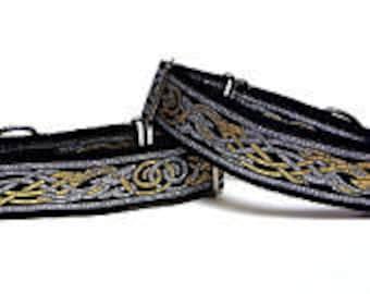 CELTIC DOG, Martingale, Dog Collar, Celtic dog collar, renaissance, medieval, Safety Collar, Greyhound Collar, Sighthound Collar, Adjustable
