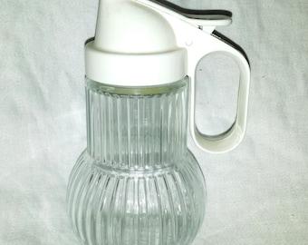 Mid Century Germany Glass Syrup Pitcher Fackelmann