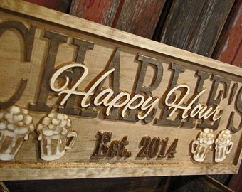 Personalized Man Cave Signs Etsy : Pub est date sign etsy