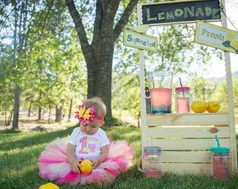 Pink Lemonade 1st Tutu Birthday Outfit