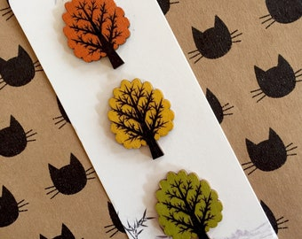 Tree Buttons in Autumn shades for craft
