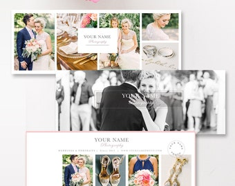 Photographer Facebook Timelines (Set of 3) + FREE Matching App Icons, Photo Facebook Covers, Photography Templates - INSTANT DOWNLOAD!